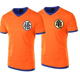 Wholesale Mens Cosplay - Dragon Ball T Shirt Men 2017 Summer Dragon Ball Z Mens Slim Fit Cosplay 3D T Shirts Casual Cotton Tshirt Homme