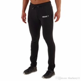 Wholesale Flat Black Clothing - Golds Gym Clothing Mens Skinny Joggers Fitness Running Sports Trousers Men Gymshark Bodybuilding Sweatpants Casual Pants free shipping