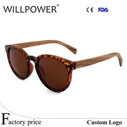 Wholesale Sport Sunglases - WILLPOWER Natural Bamboo Sunglases Polarized Mens Womens Vintage Retro Handmade Wood Sunglasses Round Eyewear Shades