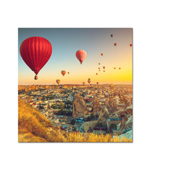 Wholesale Office Balloon - Hot-air Balloon Canvas Prints Decrative Canvas Artwork for Home and Office Decoration