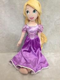 Wholesale Ethnic Fashion Dolls - Classic Fashion Princess Tangled Rapunzel Plush Dolls For Girls 50CM Kids Baby Stuffed Toys Children Christmas Gifts