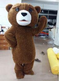 Wholesale Teddy Bear Adult Mascot Costumes - 2017 BRADE NEW hot sale tedy costume adult fur teddy bear mascot costume free shipping