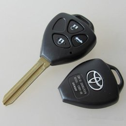 Wholesale Toyota Camry Car Key Blanks - High quality car key FOB cover for toyota 3 button remote key blank shell with TOY43 blade