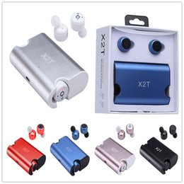 Wholesale Universal Iphone Charging Case - X2T Twins True Wireless Bluetooth Headset earbuds CSR 4.2 Bluetooth Earphones with Magnetic Charging Case for iphone 6 7 8 Samsung
