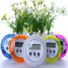 Wholesale Led Digital Countdown Timer - Wholesale-Digital LCD Timer Stop Watch Kitchen Cooking Countdown Up Timer Alarm Clock Gift Mini Size 6.2cm