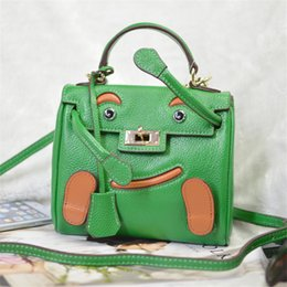 Wholesale Doll Face Bags - 2017 New hot sale designer handbags women bags variety changeble doll smile face lovely gesture luxury women handbags good geniue leather