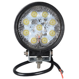 Wholesale Tractor 12v - 4 Inch 27W 12V-24V LED Work Light for Indicators Motorcycle Driving Offroad Boat Car Tractor Truck 4x4 SUV ATV Flood Spot Beam