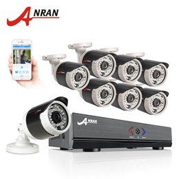 Wholesale Dvr Hdmi Output - ANRAN 8CH CCTV System 1080N Output HDMI DVR 720P 1800TVL IR Outdoor CCTV Camera Home Security System Video Surveillance Kits