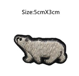 Wholesale New Polar Bear - 2017 DIY New High quality 3D HAND EMBROIDERED polar bear PIN Jewelry Patches Badge France BULLION WIRED BLAZER BROOCHES