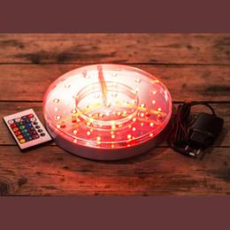2019 levou luz água lâmpada de mesa 8inch rodada levou base de luz vaso de bateria operado luzes da tabela com emote controle para hookah shisha tubulação de água da festa de casamento decoração lâmpadas desconto levou luz água lâmpada de mesa