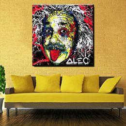 Zz217 Альберт Эйнштейн Алек монополия мода Королевское искусство печати холст для украшения стены картина маслом фреска картина не оформлена от Поставщики королевское полотно