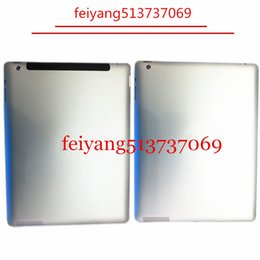 Wholesale metal case for ipad - Original quality Metal Back Cover Housing Rear Case for iPad 2 3 4 5 air 3G or WIFI Version Replacement 16GB 32GB 64GB
