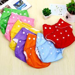 Wholesale Nappies Newborn - Adjustable Reusable Washable Baby Cloth Diaper Nappy Newborn Cloth Diapers Baby Diapers Cloth or mesh Diaper