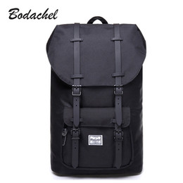 Рюкзак большой рюкзак онлайн-Wholesale- Bodachel Men Backpack School Bag Laptop Backpack Male Large Capacity High Quality Drawstring Bag Knapsack sac a dos homme