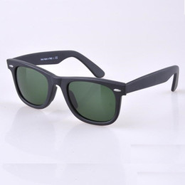 Wholesale Black Framed Eyeglasses - HOT seal Matte Black sunglasses mens sun glasses glass Lens Plank sunglasses High Quality womens glasses UV protection eyeglass 50 54mm size