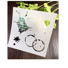 Wholesale Coffee Stencils - DIY stencil wholesale laser cut stencils Masking template For Scrapbooking album and more-Tea coffee cup mark rubble 034