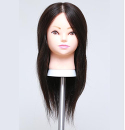 """Wholesale Fine Human Hair - wholesale Free delivery!! Professional 18"""" human hair Beautiful Hairdressermakeup practice head,can be cut fine M00607"""