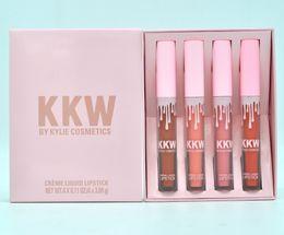 Wholesale Kardashian Wholesale - HOT Kylie KIM KARDASHIAN KKW LIPSTICK SET OF 4 SHIP DHL Free shipping+GIFT