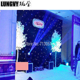Wholesale Curtain Cloths - 2Mx3M LED Stage Drape LED Star Cloth Curtain Backdrop Background Screen with DMX Controller for Wedding Christmas Party