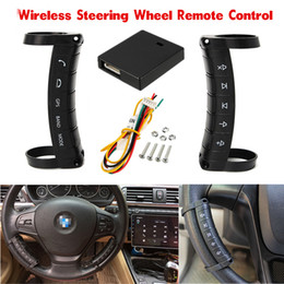 Wholesale Car Dvd Remote - Universal Wireless Car Steering Wheel Button Remote Control For Stereo DVD GPS