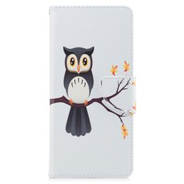 Wholesale Night Owl Design - For Samsung Note 8 S8 Plus Cover Painted PU Leather Cases Flip wallet Card Night Owl Design Phone Bags