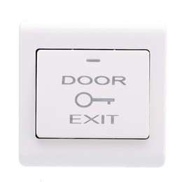 Wholesale Exit Buttons - Wholesale- New Wall Mount Door Exit Push Button Release Button Durable Exit Switch for Entry Access Control System