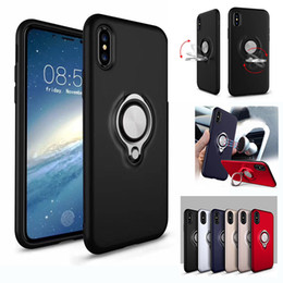 Wholesale Water Resistant Case Huawei - Hybrid Armor Case Shockproof Cases 360 Ring Stand Holder Magnetic Back Cover For Huawei P8 P10 Lite Plus Red MI 4A 4X Note4 OPPO R11