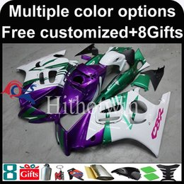 Wholesale 98 F3 - 23colors+8Gifts red white Boda kit motorcycle cowl for HONDA CBR600F3 1997-1998 F3 97 98 ABS Plastic Fairing