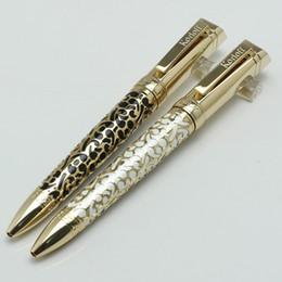 Wholesale Engraving Supplies - Luxury K-L-F ballpoint pen Gold Embossed Barrel and engrave logo office&school supplies pens