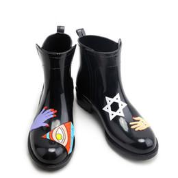 Wholesale Waterproof Black Shoes For Girls - 2016 New Women's Rain Boots For Girls Ladies Fashion Casual Walking Outdoor Hunting Waterproof Shoes Ankle Martins Rainboot Women Waterproof