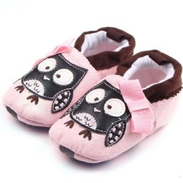 Wholesale Baby Home Shoes - Wholesale- 2017 New Style Cute Cotton Baby Shoes First Walker Newborn Toddler Cartoon Soft Soled Pre-walker Infant Footwear Home Slippers