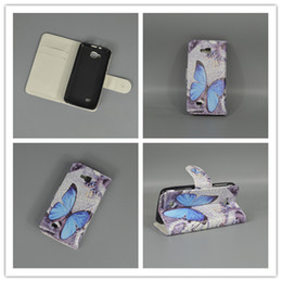 Wholesale Flag Pouch - Wholesale- New Butterfly Flower Flag Designer Wallet Flip Stand Book Cover Case For ZTE Blade A5 T221 A5 pro Blade A3 AF3
