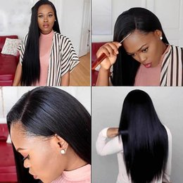 Wholesale Silky Indian Body Wave - Free Style 130 Density Silk Base wig Unprocessed Silky Straight Human Hair With Baby Hair Virgin Brazilian Silk Top Lace Front Full Lace Wig
