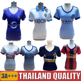 Dame ville en Ligne-Atlanta United femme Maillot de football Seattle Sounders Chemises de football Ladies Orlando City Uniforms Chicago New York City 2017 La Galaxy