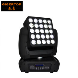 Wholesale Moving Head Light Rgbw Cree - 25pcs*12W 4IN1 Cree Led Matrix Moving Head Beam Light DMX 512 RGBW Led Beam 19 29 117 Channels Packing Carton Flight Case