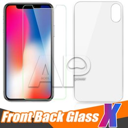 Wholesale Package Films - Back and Front For Iphone X 10 8 Plus Tempered Glass Screen Protector Film 2.5D 9H No Package