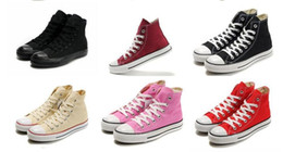 Wholesale Renben Shoes - shipping High-quality RENBEN Classic Low-Top & High-Top canvas Casual shoes Men's  Women's canvas shoes Size EU35-45 retail
