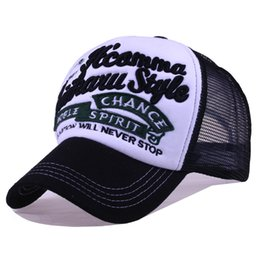Wholesale Solid Grizzly - Unisex Snapback Baseball Caps Men Embroidery Letters Mesh Breathable Caps Trucker Hat Casquette Football Grizzly Cap