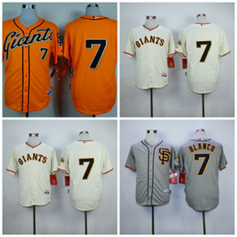 Wholesale Giant Blanco Jersey - 7 Gregor Blanco Jersey San Francisco SF Giants Men's Authentic Majestic Cool Base Flexbase with 2014 World Series Patch Jerseys Stitched