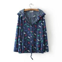 Wholesale Plus Size Polka Dot Coat - Wholesale- 3xl Women Autumn Loose denim Jackets Casual Fashion Female Coats women dot print jackets plus size 2016 outwear extra large