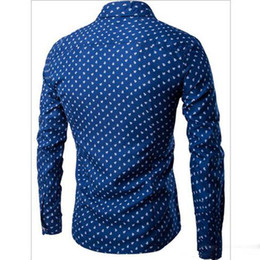 Wholesale Boat Money - New men's fashion boat anchor pattern in the fall and winter of 2016 Male money gentleman leisure long-sleeved shirts
