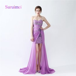 Wholesale Fast Pictures - Sexy Fashion Prom Dresses Crystal And Sweep Train Chiffon Vestidos de Noiva Formal Evening Gowns Fast Shipping