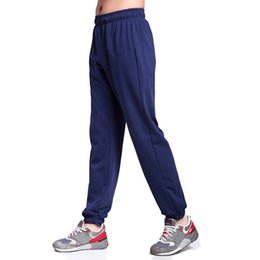 Wholesale Narrow Trousers - Wholesale- Men Big Size Sweatpants Spring Autumn Elastic Narrow Feet Pencil Pants Loose Plus Size Casual Cotton Jogger Trousers 5XL 6XL 7XL