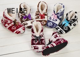 Wholesale Wholesale Wooden Couple - Wholesale- Free Shipping 2016 New Indoor Home Slippers Christmas Slippers Couples Wooden Floor Slippers For Women Fashion Plush Shoes