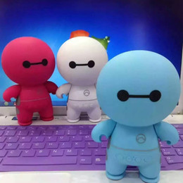 Wholesale Usb Disks For Bluetooth - cartoon Baymax Bluetooth Speaker Cartoon Doll Mini Bluetooth Stereo Subwoofer Support TF Card USB Disk for Computer Mobile Phone
