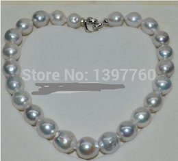 Wholesale Pearl Necklace 17mm - charm Jew. Gorgeous Natural white 13-17mm kasumi Pearl Necklace