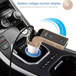 Wholesale Flash Drive Car Adapter - Multifunction 4-in-1 CAR G7 Bluetooth FM Transmitter With USB Flash Drives  TF Music Player Bluetooth Car USB Charger Adapter Speakerphone