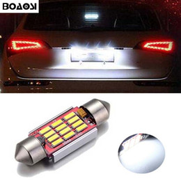 Wholesale C5w Smd - CANBUS Error Free C5W 36mm Festoon 12 SMD Led Car Interior Bulbs License Plate Lights For Volkswagen Golf 3 4 5 6 Passat 3c B6 B5 Polo