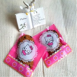 Wholesale Wholesale Cookie Bags Supply - Self adhesive cookie bags plastic gift bag for food gift packaging Hello Kitty wedding party supplies 10*11+4cm