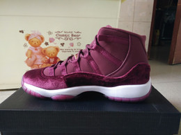 Wholesale Velvet Retail - basketball shoes retro 11 red velvet athletic shoes retail wholesale 852625-650